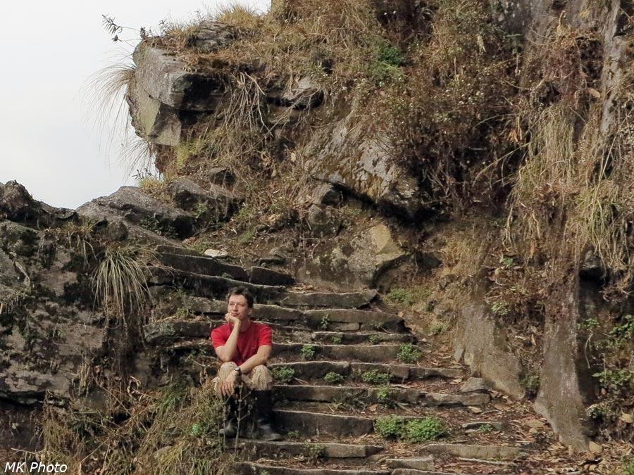 На ступенях тропы