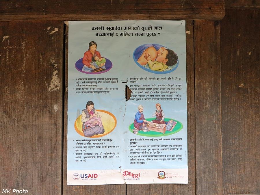 Медицинско-поучительный плакат на доме