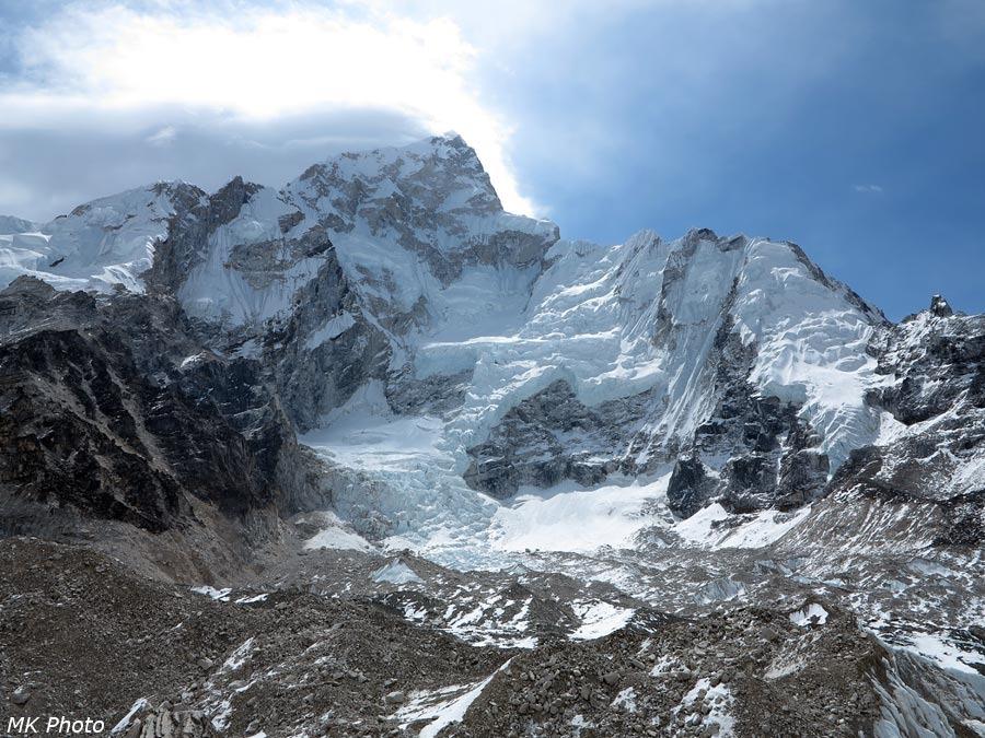 Ледник со склона Нуптце