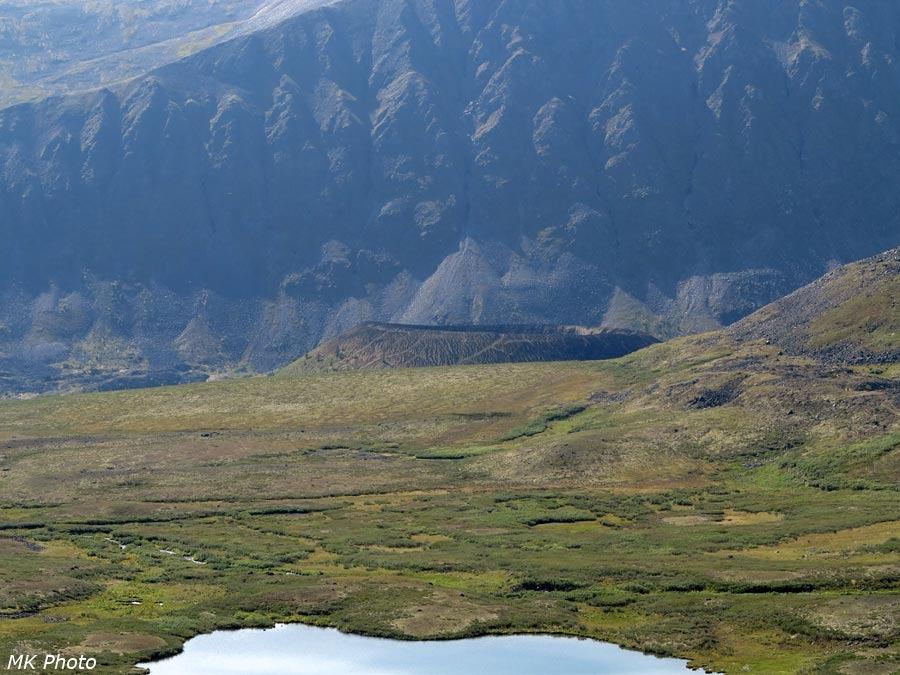 Верхушка вулкана Кропоткина