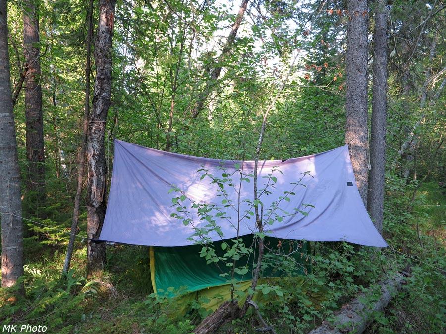 Палатка на второй ночёвке