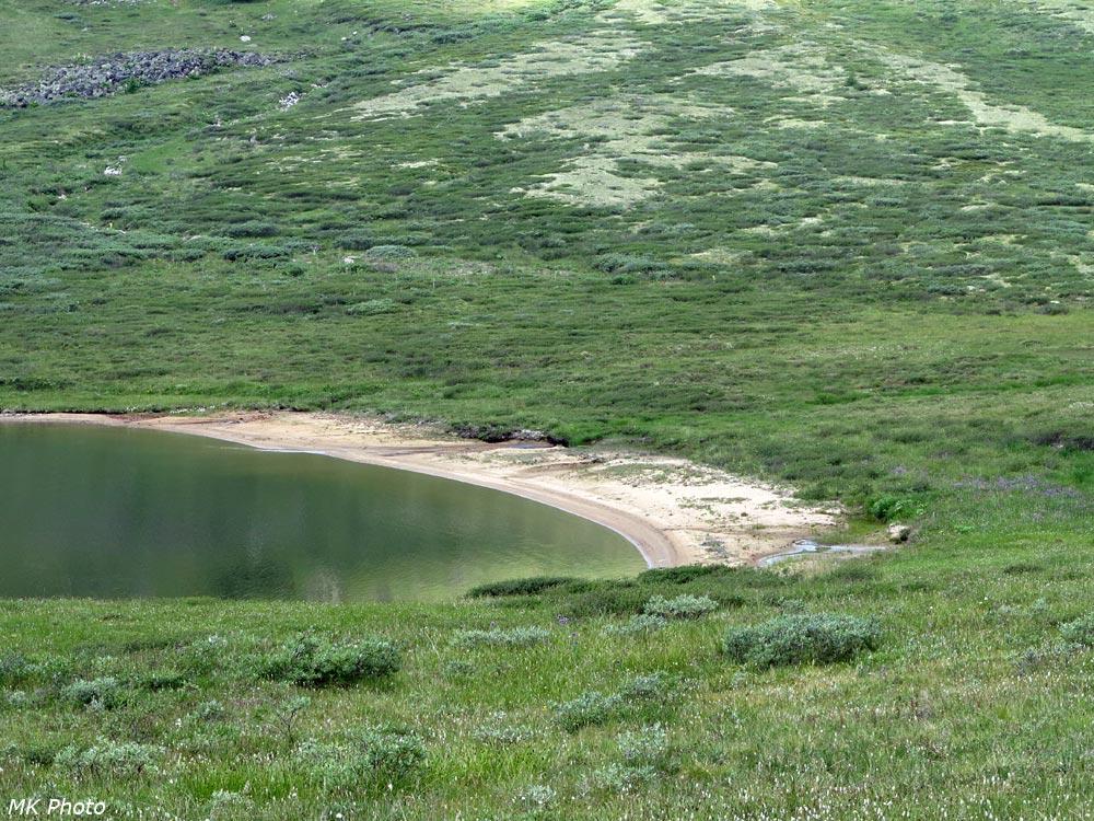 Песчаная оконечность верхнего озера