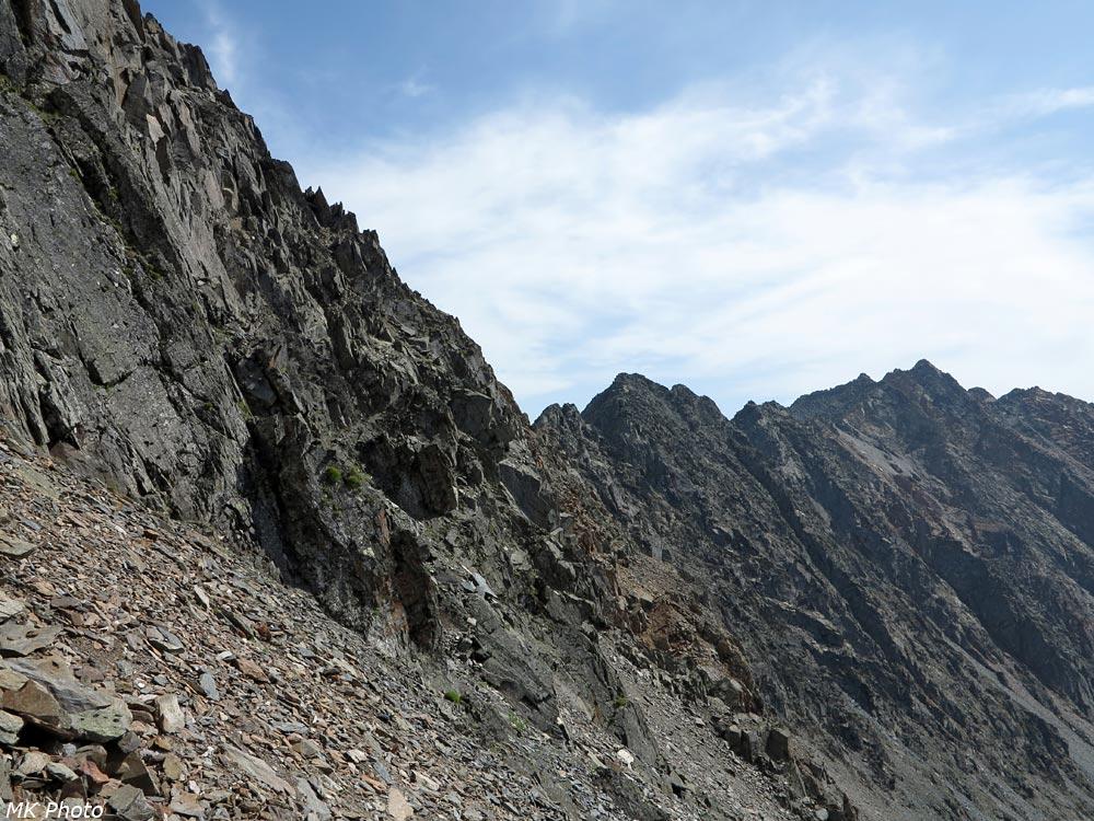 Подъём на перевал Долгожданный