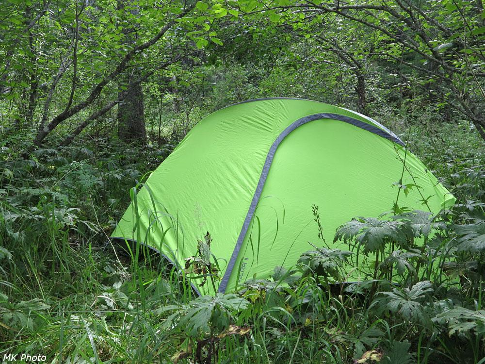 Палатка в долине Харсапки