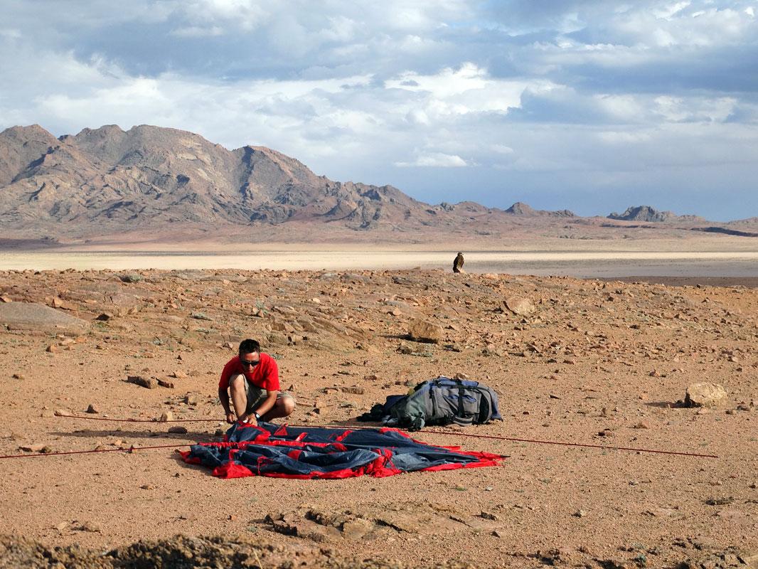 Установка палатки