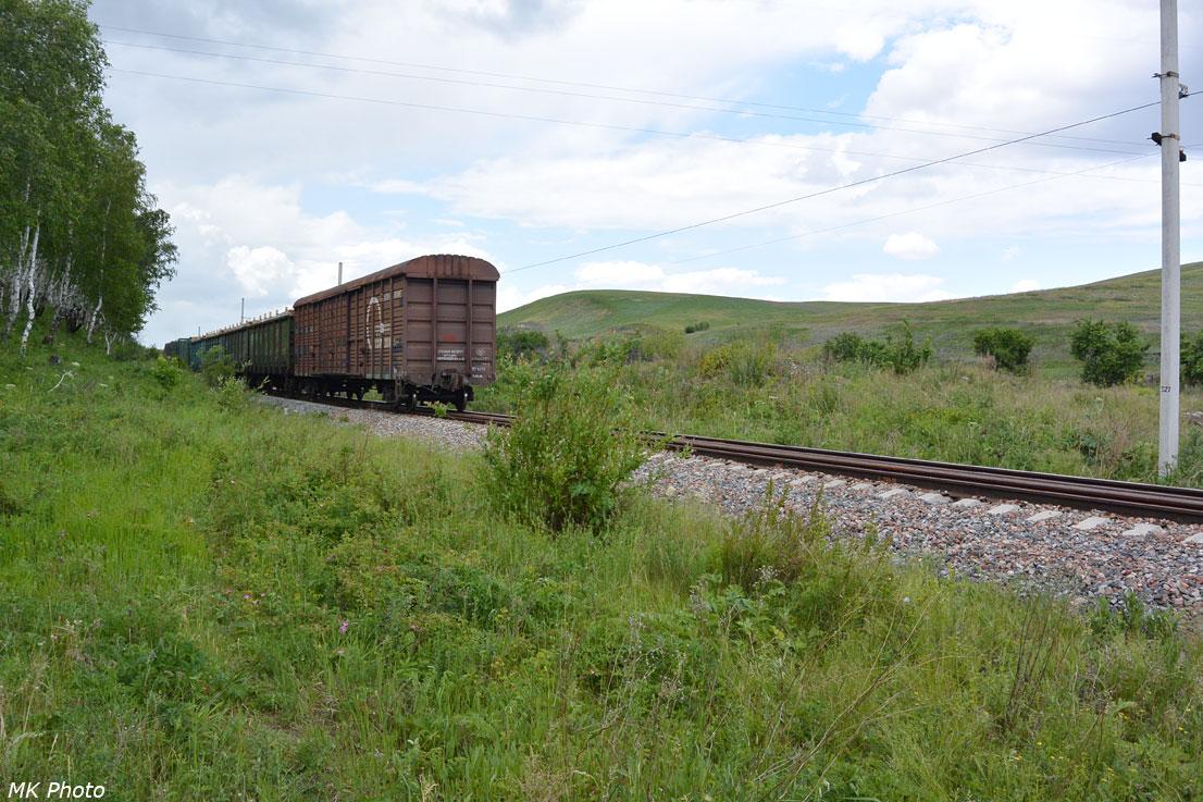 Хвост уходящего поезда