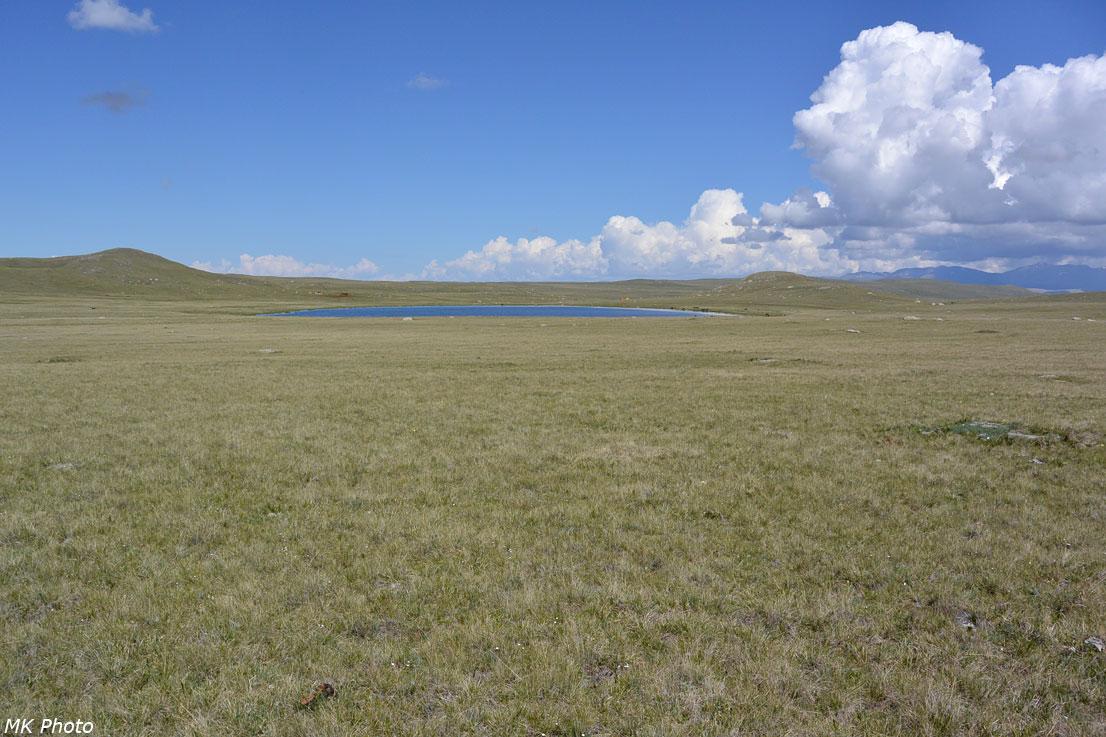 Безымянное озеро возле нашего лагеря