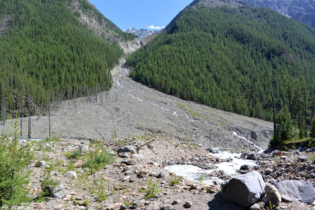 Долина безымянного притока напротив
