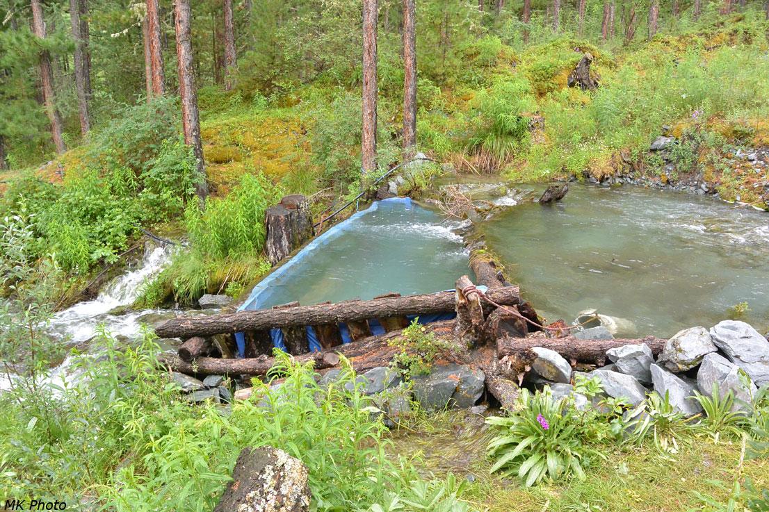 Бассейн в ручье