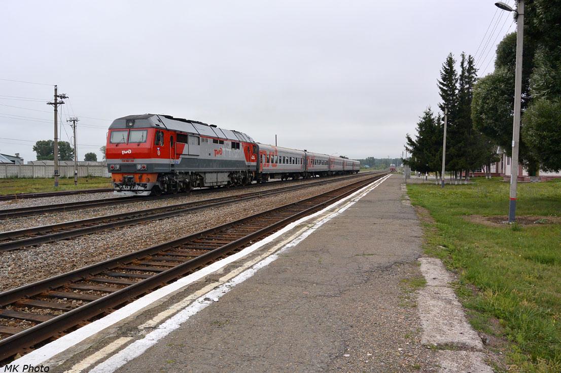 Пригородный поезд Овичинниково – Барнаул на ст. Овчинниково