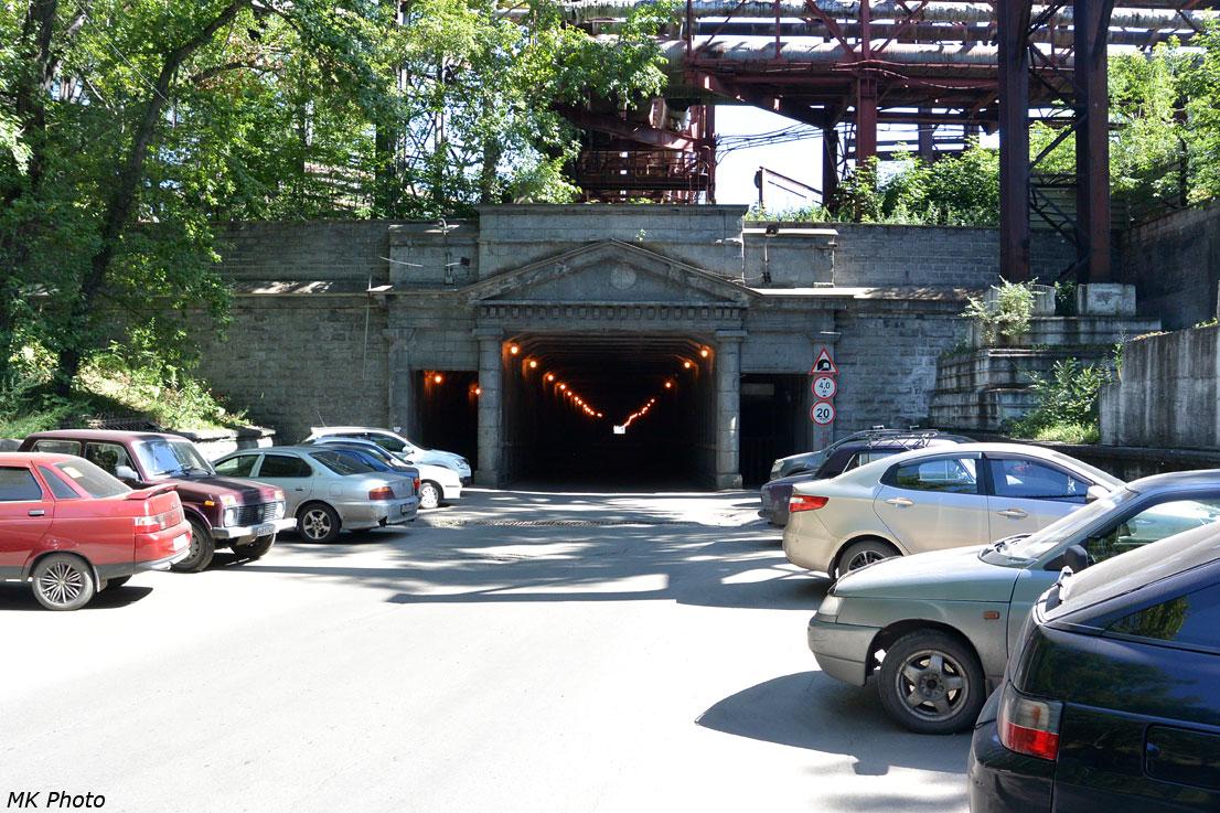 Бывший парадный вход в тоннель