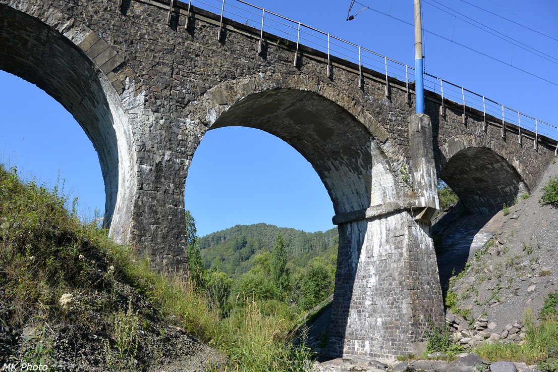 Арочный мост над р. Учулен