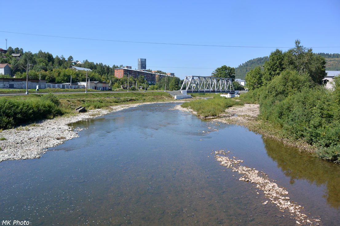 Мост через р. Кондома в Таштаголе