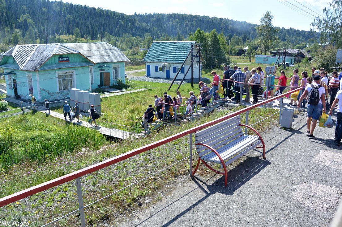 Пассажиры, вышедшие на станции Калары