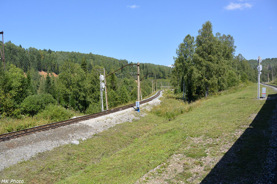 Примыкание линии со станции Ахпун
