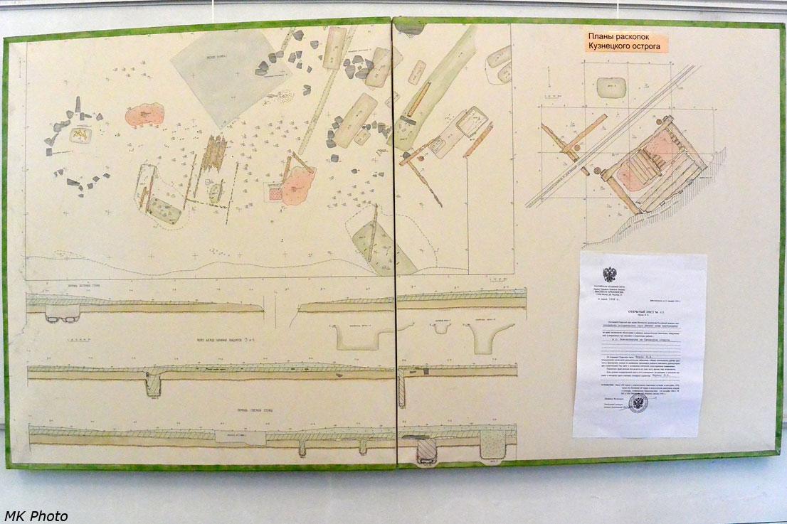 План раскопок Кузнецкого острога