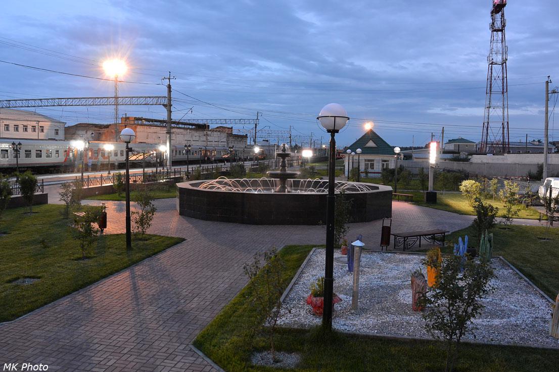 Фонтан на станции Белово