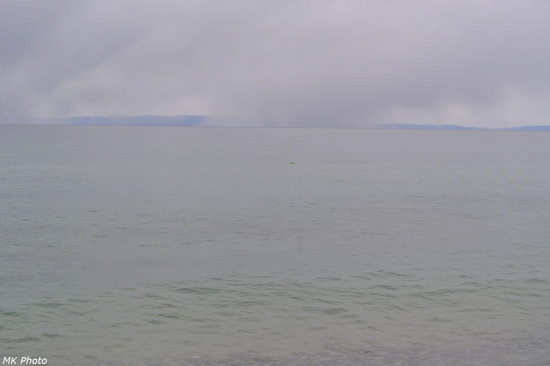 Снежные заряды над Байкалом