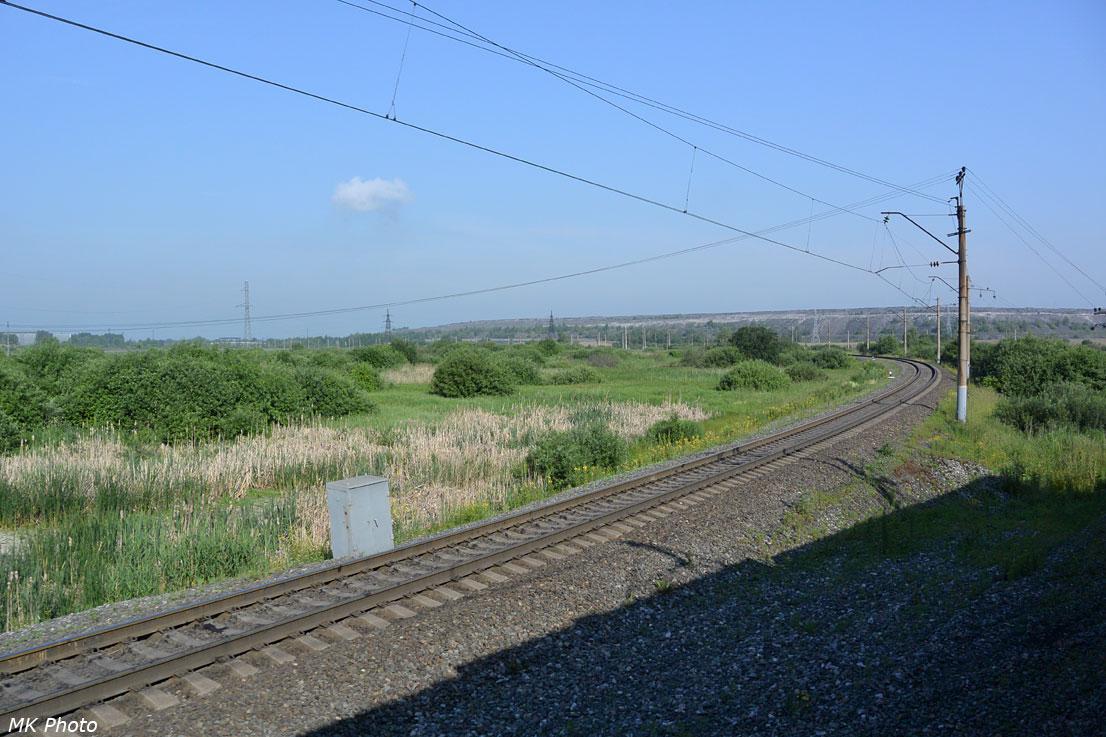 Однопутная линия на перегоне 28 км – Полосухино