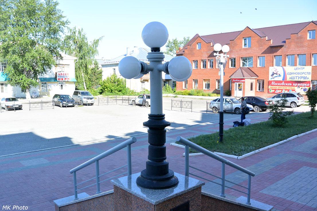 Светильники у входа в вокзал