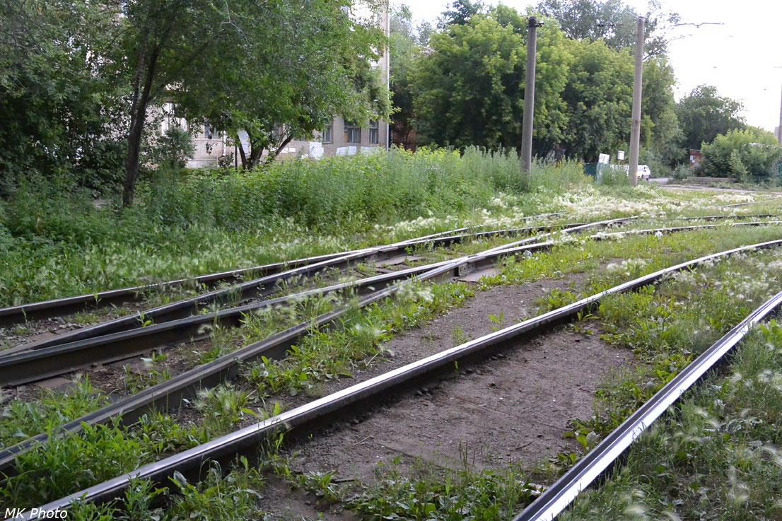 Путь в трамвайное депо