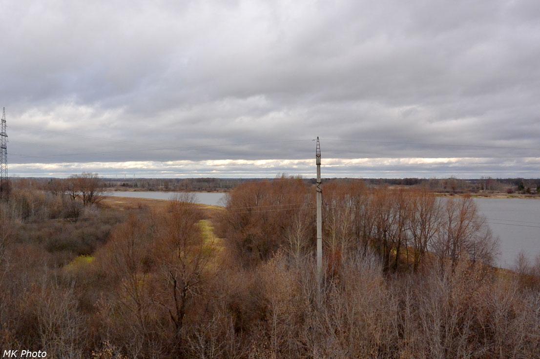 Река Ока с западного подхода