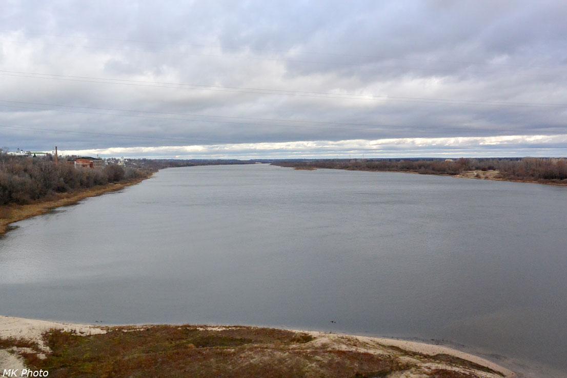 Река Ока с моста
