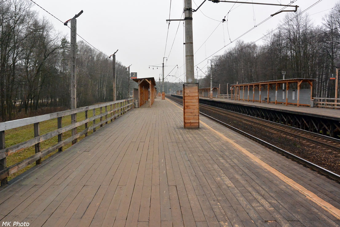 Временная деревянная платформа Мичуринец