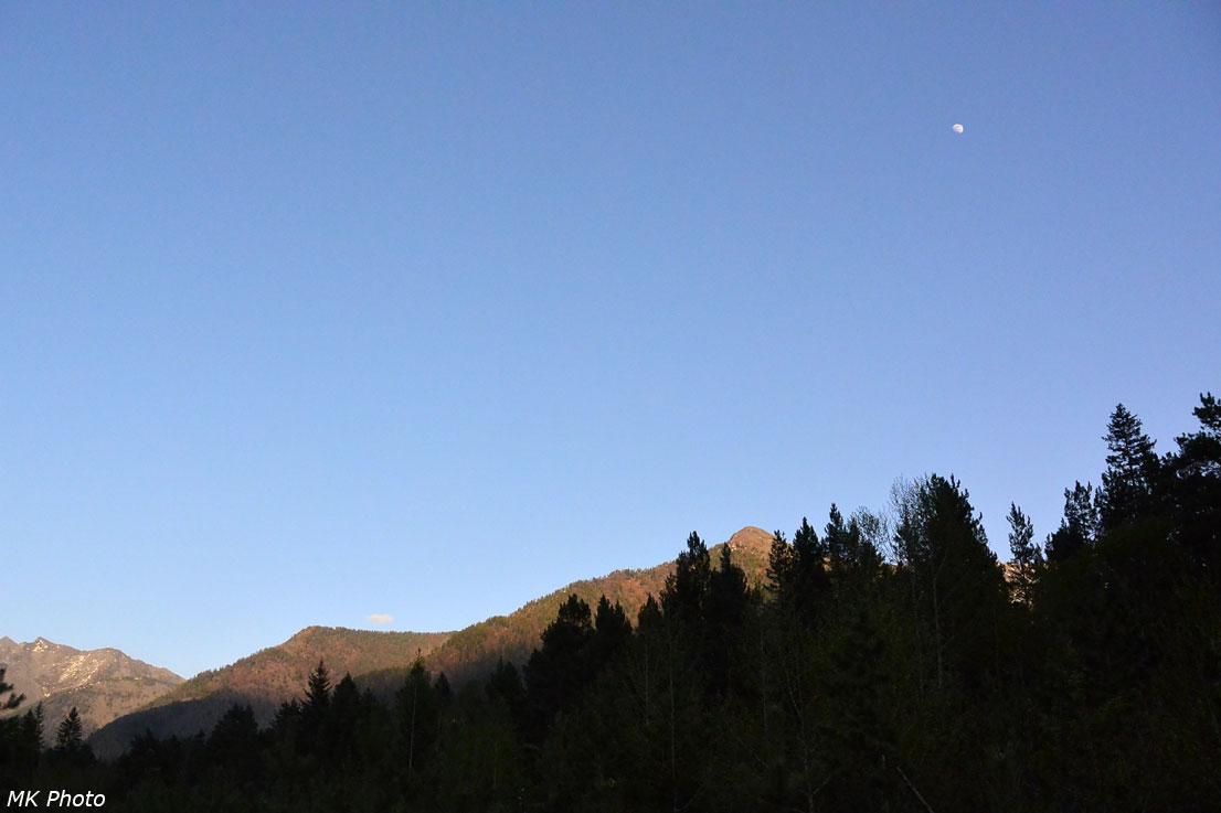 Луна над долиной Федюшкиной Речки