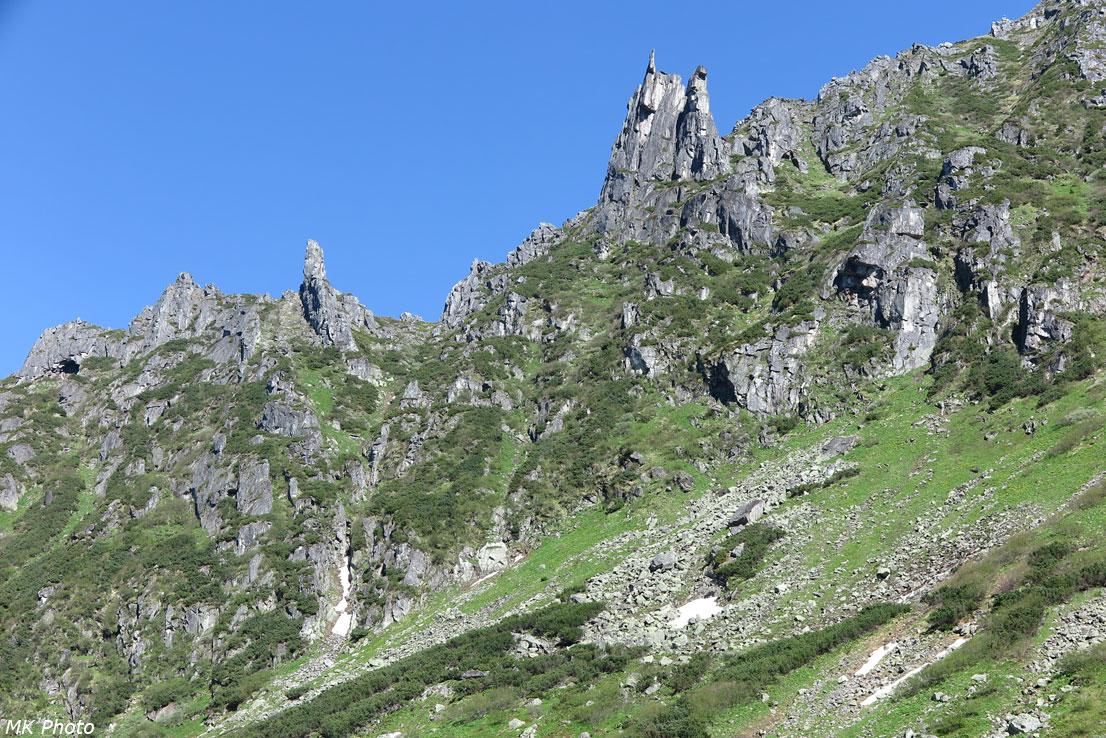 Скалы над Правым Водопадным