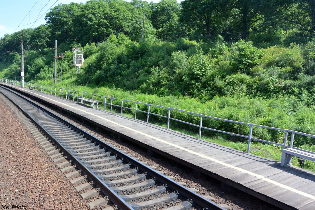 Временная деревянная платформа Сиреневка