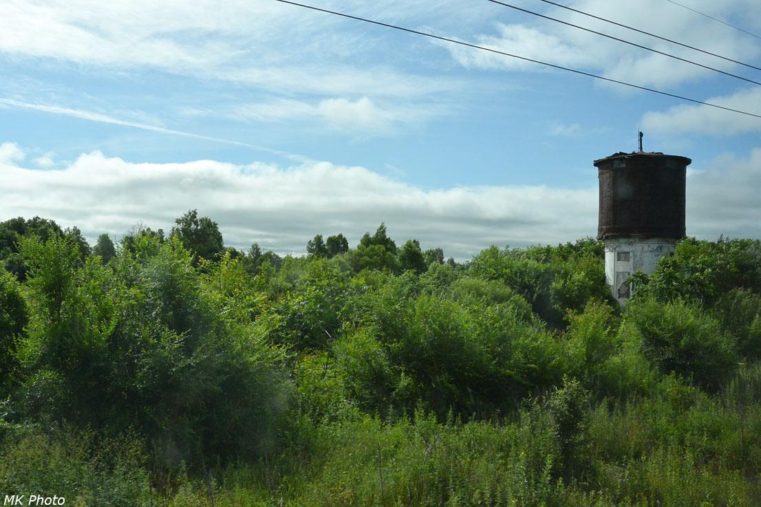 Водонапорная башня на бывшей станции Алчан