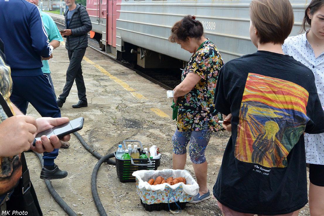 Пирожки и напитки на ст. Вяземской