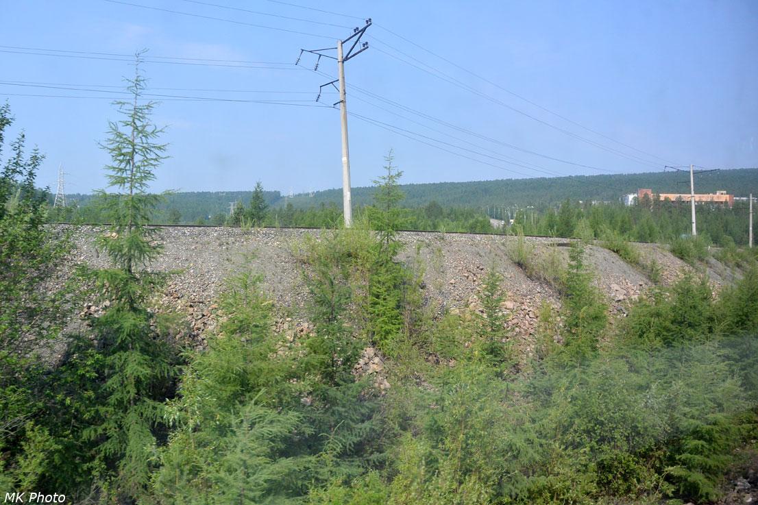 РЖДшный путь на станцию Нерюнгри-Грузовая