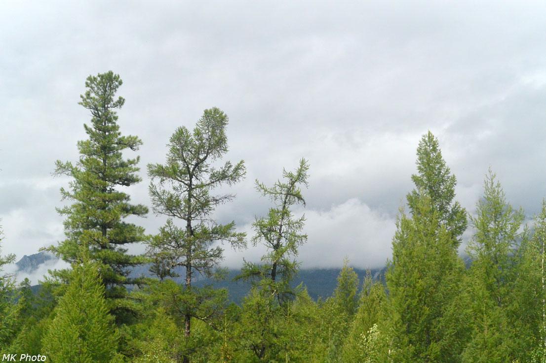 Облака легли на Верхнеангарский хребет