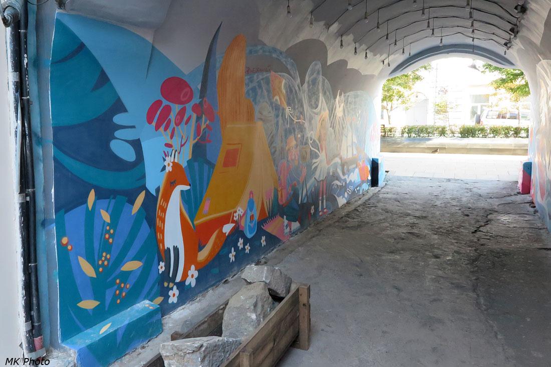 Стена домовой арки