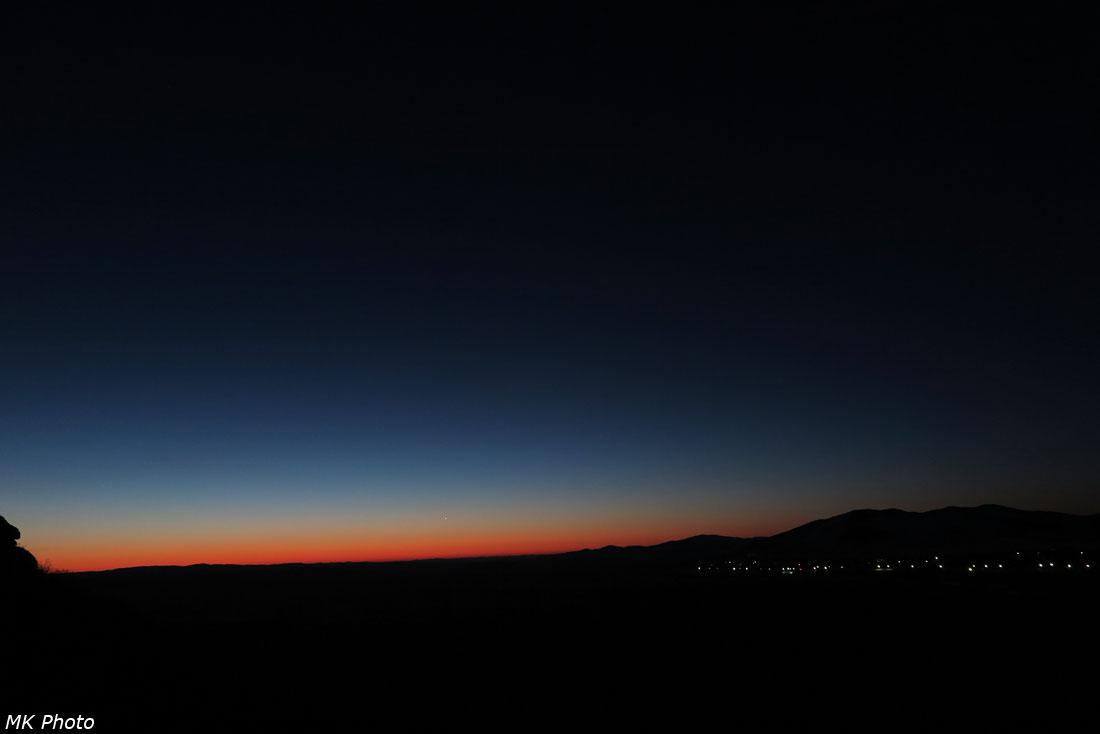 Венера в рассветных лучах