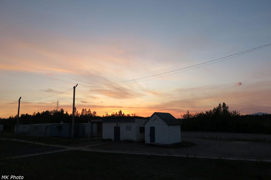Закат на станции Уктур