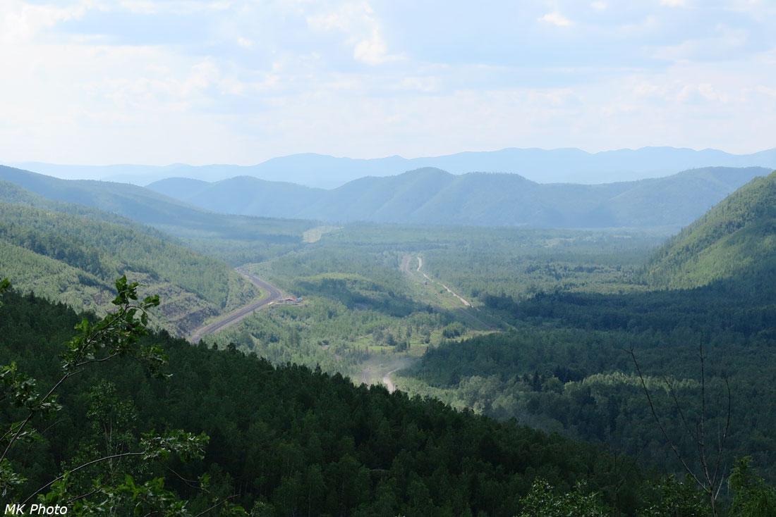 Вид со старой перевальной линии