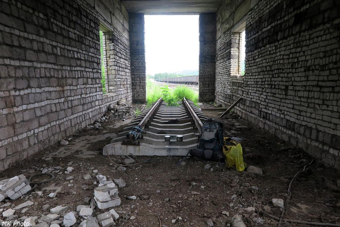 В заброшенном депо