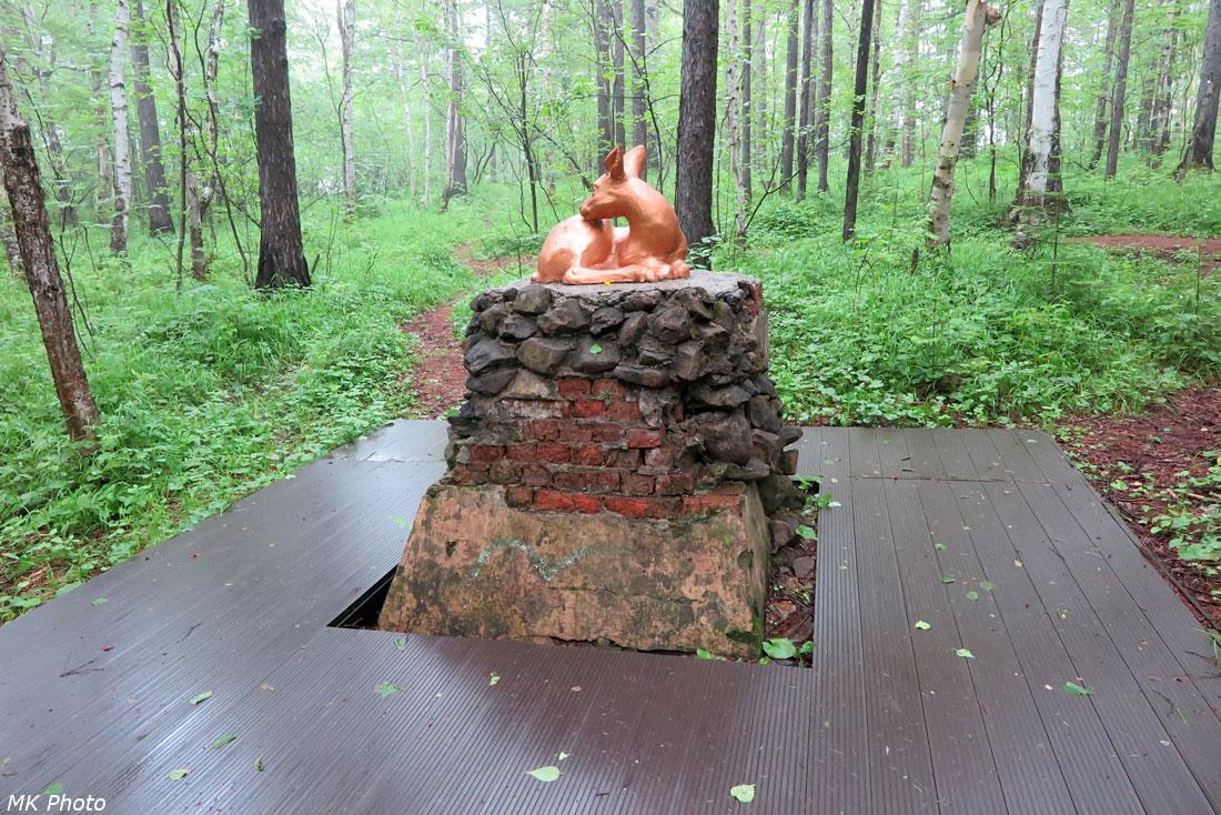 Скульптура оленёнка