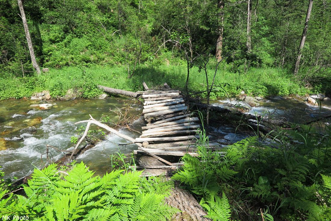 Зимний вариант нового первого моста через Большую Осиновку