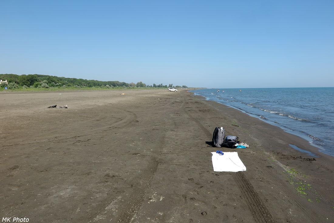 Пляж у посёлка Приморский