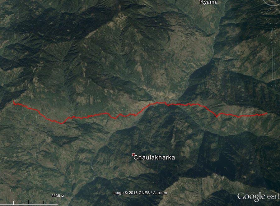 Спутниковый снимок маршрута 27 марта