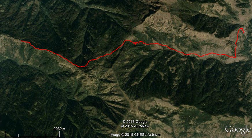 Спутниковый снимок маршрута 28 марта