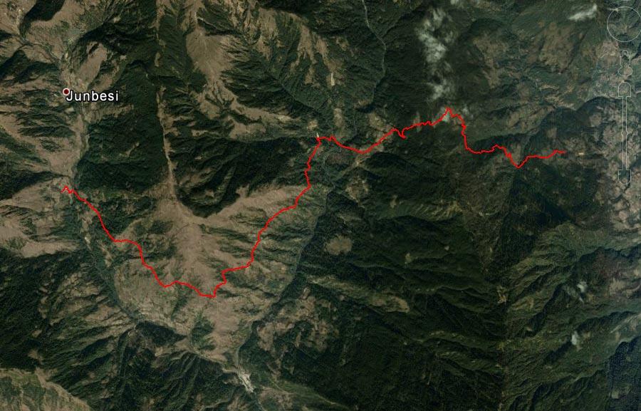 Спутниковый снимок маршрута 30 марта