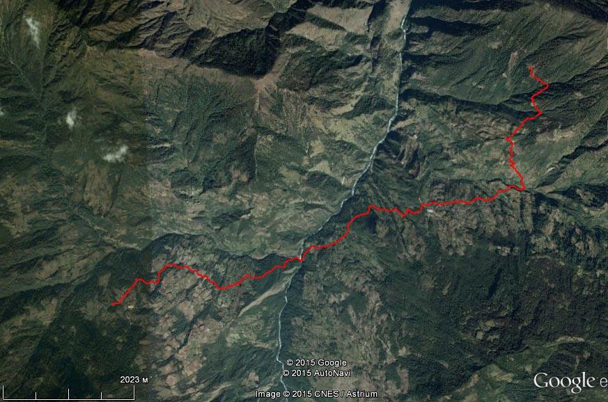 Спутниковый снимок маршрута 31 марта