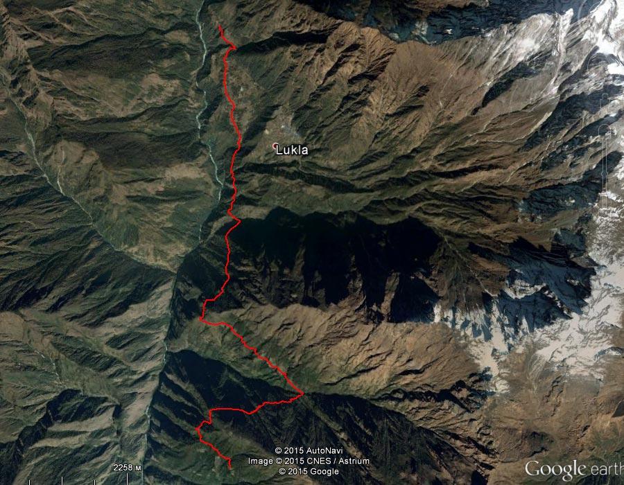 Спутниковый снимок маршрута 1 апреля