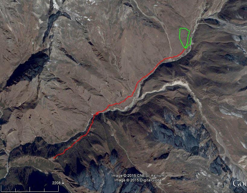 Спутниковый снимок маршрута 6 апреля