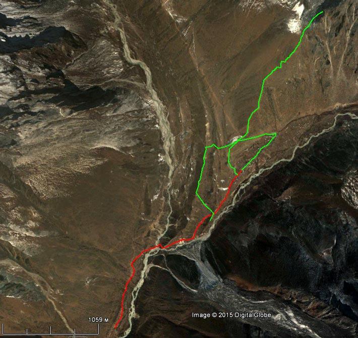 Спутниковый снимок маршрута 7 апреля